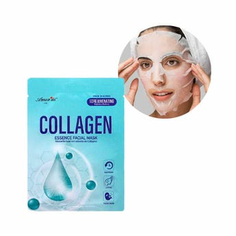 Mascarilla facial textil de colágeno, regenera y reafirma la piel, AMOR US, 25 grs.