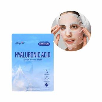 Mascarilla facial textil de ácido hialurónico, rejuvenece la piel, AMOR US, 25 grs.