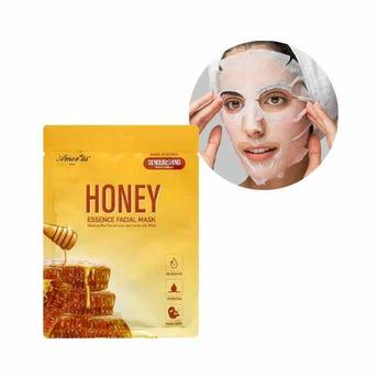 Mascarilla facial textil de miel, nutre e hidrata la piel, AMOR US, 25 grs.