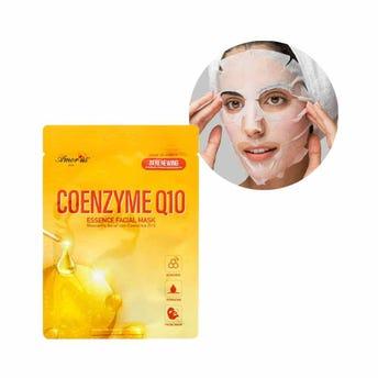 Mascarilla facial textil de coenzima, antioxidante y pretector UV, AMOR US, 25 grs.