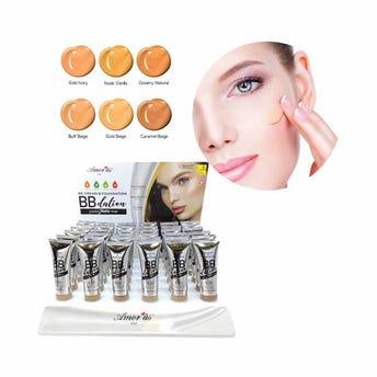 Maquillaje líquido acabado matte con FPS 35+, BB DATION AMOR US, 6 tonos surtidos, 50 ml.