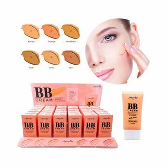 Maquillaje líquido acabado matte, BB CREAM AMOR US, 6 tonos surtidos, 50 ml.