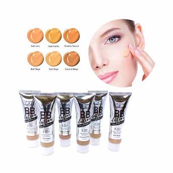 Maquillaje líquido acabado matte con FPS 35+, BB DATION AMOR US, 6 tonos surtidos, 50 ml, por pieza.