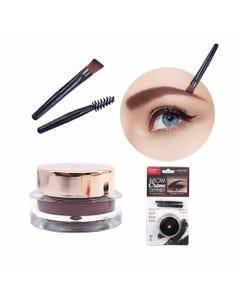 Maquillaje en gel para ceja con brocha aplicadora y cepillo, AMOR US, café medio brunette, 3 grs.