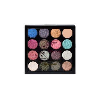 Sombra para ojos, paleta con 15 colores y 1 primer, THE GLOW, RUBY ROSE, 0.7 Y 0.5 gr.