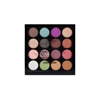 Sombra para ojos, paleta con 15 colores y 1 primer, THE CUFECAKE, RUBY ROSE, 0.7 Y 0.5 gr.