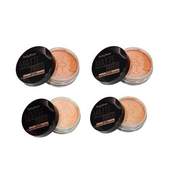 Maquillaje en polvo, BRIGHT TOUCH,  RUBY ROSE, tonos surtidos, 8.5 gr.