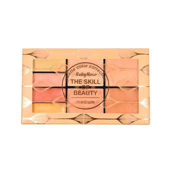 Corrector en crema, paleta con 8 tonos, RUBY ROUSE, grupo 3 medium , 1.1 y 2.3 gr,