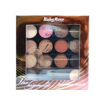 Sombra para ojos, paleta con 15 colores y 1 primer, THE HYPNOTIC, RUBY ROSE, 0.7 Y 0.5 gr, por pieza