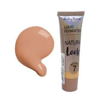 Maquillaje líquido, NATURAL LOOK RUBY ROSE, beige tono 7,  29 ml, por pieza.