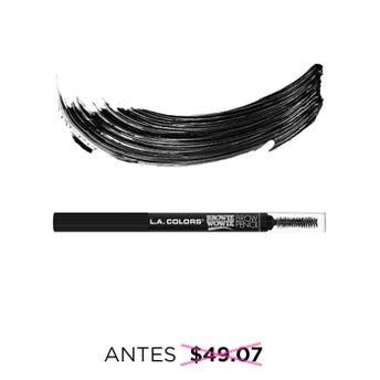 Lápiz delineador para ceja retráctil con cepillo, L.A. COLORS. negro, 0.2 grs.