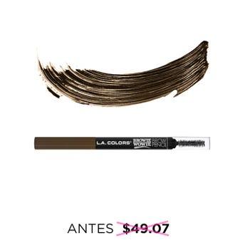 Lápiz delineador para ceja retráctil con cepillo, L.A. COLORS, rubio oscuro, 0.2 grs.