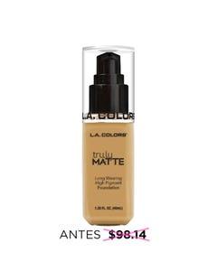 Maquillaje líquido matte de larga duración, TRULY L.A. COLORS, nude, 40 ml.
