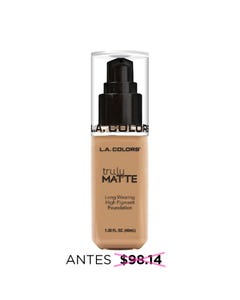 Maquillaje líquido matte de larga duración, TRULY L.A. COLORS, beige suave, 40 ml.