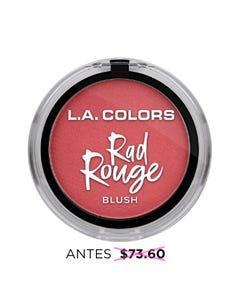 Rubor en polvo con espejo y brocha aplicadora, RAD ROUGE L.A. COLORS, as if, 4.5 grs.