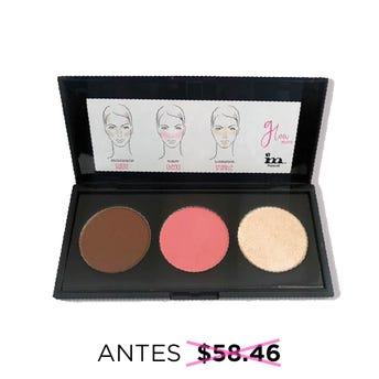 Maquillaje en kit con bronceador, rubor e iluminador compacto, IM NATURAL, 7.5 grs.