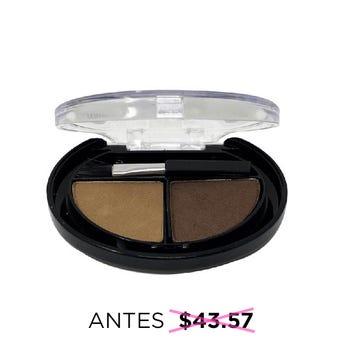 Maquillaje compacto en kit para cejas con plantillas y brocha, IM NATURAL, café, 4.5 grs.