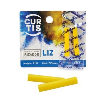 Repuesto de hule para enchinador set con 2 pz, LIZ CURTIS, amarillo.
