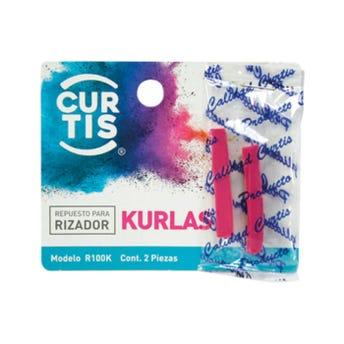 Repuesto de hule para enchinador set con 2 pz, KURLAS CURTIS, rosa.