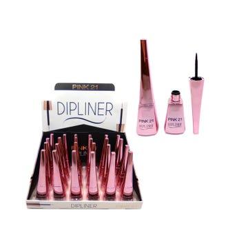Delineador líquido punta de fieltro, PINK 21 DIPLINER, 7.5 ml, Negro