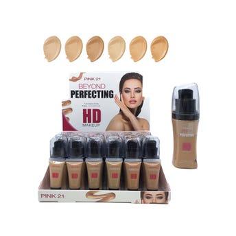 Maquillaje líquido con atomizador, PINK 21 BEYOND, 6 tonos surtidos, 40 ml.