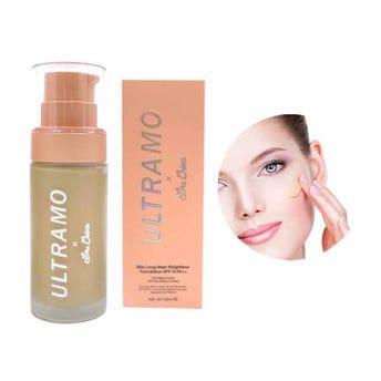 Maquillaje líquido profesional con atomizador y FPS 15, ULTRAMO, 4 tonos surtios, 30 ml.