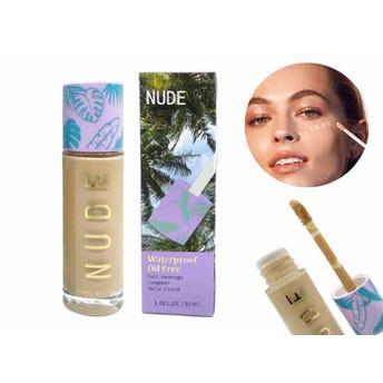 Maquillaje líquido matte de larga duración con aplicador, NUDE ULTRAMO, 4 tonos surtios, 30 ml.