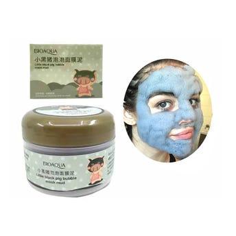 Mascarilla facial carbonatada de lodo, BIOAQUA, limpia la piel, 100 grs.