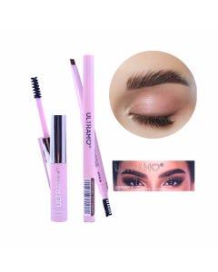 Maquillaje para ceja en set con gel y lápiz delineador con cepillo, ULTRAMO, 6 tonos surtidos, 6.5 m