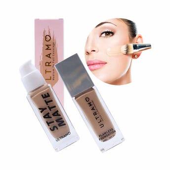 Maquillaje líquido con FPS 20, STAY MATTE ULTRAMO, 6 tonos surtidos, 30 ml.