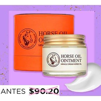 Crema de aceite de caballo, BIOAQUA, hidrata y ayuda a prevenir arrugas, 70 grs.