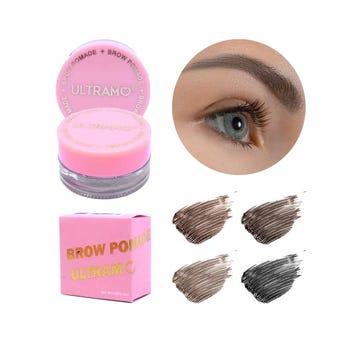 Maquillaje para ceja en pomada, ULTRAMO, 6 tonos surtidos, 4 grs.