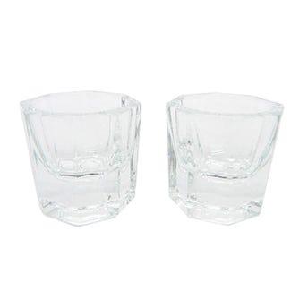 Vaso de cristal para decoración de uñas, 3 cm.