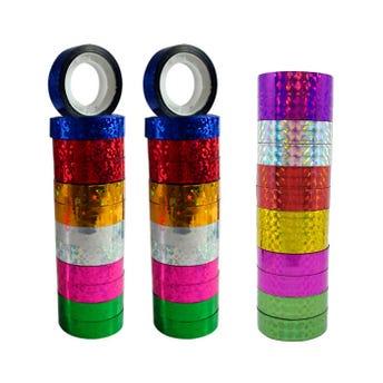 Diurex de holograma, colores surtidos, 7 gr, 13 mm