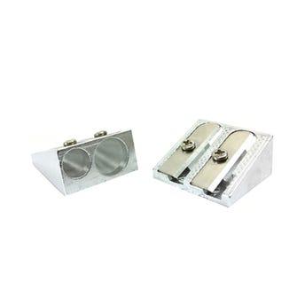 Sacapuntas doble metálico 2.3 X 2.5 cm.