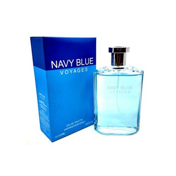 Perfume fragancia NAVY BLUE VOYAGES for men, inspirado en NAUTICA VOYAGE, 110 ml.