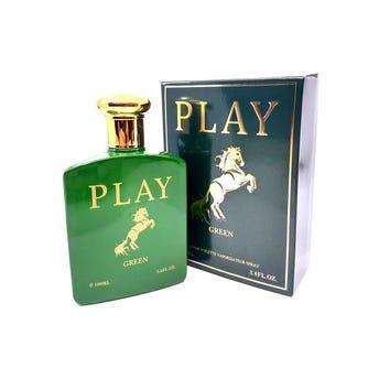 Perfume fragancia PLAY GREEN for men, inspirado en POLO GREEN RALPH LAUREN, 100 ml.