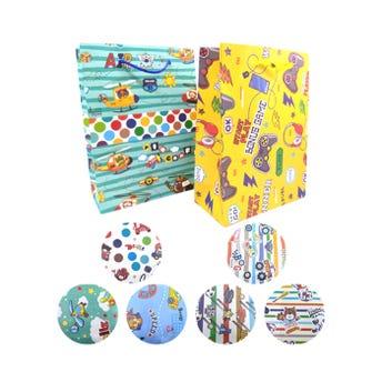Bolsa para regalo vertical para niño, modelos surtidos, 23 x 17 x 8.5 cm aprox