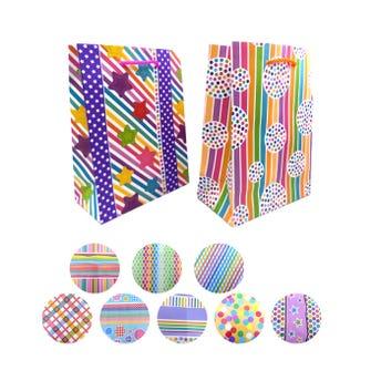 Bolsa para regalo vertical, modelos surtidos, 23 x 17 x 8.5 cm aprox