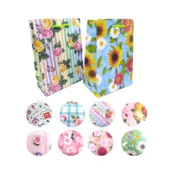 Bolsa para regalo vertical para dama, modelos surtidos, 23 x 17 x 8.5 cm aprox