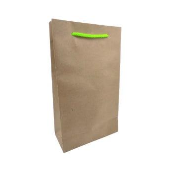 Bolsa para regalo vertical KRAFT, 16 x 26.5 x 6.5 cm aprox