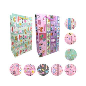 Bolsa para regalo vertical para niña, modelos surtidos, 37 x 22 x 11.5 cm aprox