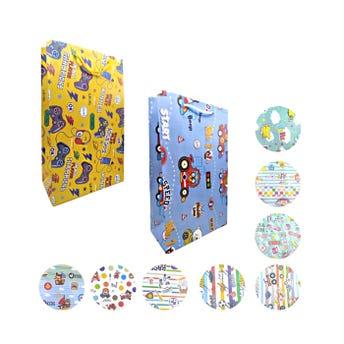 Bolsa para regalo vertical para niño, modelos surtidos, 37 x 22 x 11.5 cm aprox