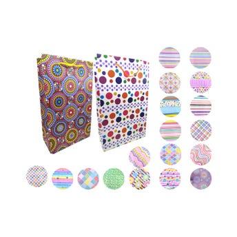 Bolsa para regalo vertical, modelos surtidos, 37 x 22 x 11.5 cm aprox
