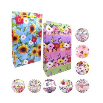 Bolsa para regalo vertical para dama, modelos surtidos, 37 x 22 x 11.5 cm aprox