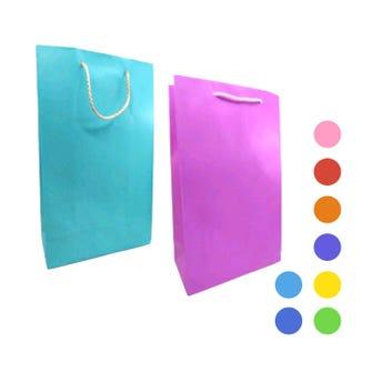 Bolsa para regalo vertical lisa, modelos surtidos, 37 x 22 x 11.5 cm aprox