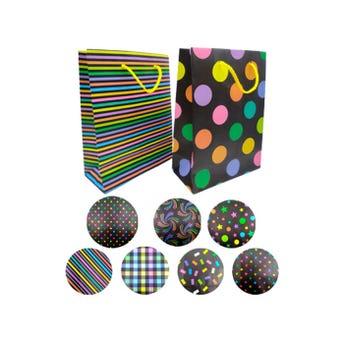 Bolsa para regalo vertical texturas fosfo, modelos surtidos, 37 x 22.5 x 11 cm aprox