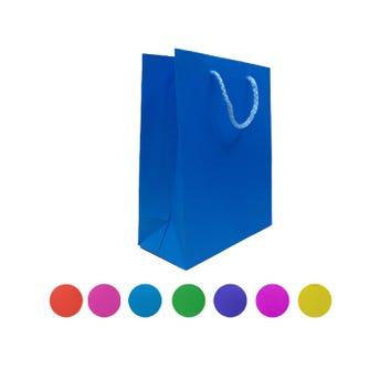 Bolsa para regalo vertical lisa, colores surtidos, 23 x 17 x 8.5 cm aprox