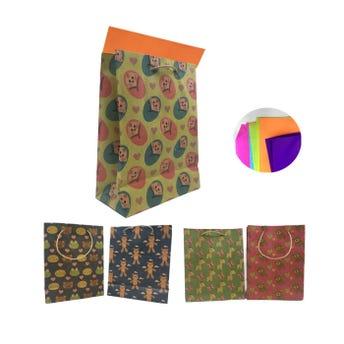 Bolsa para regalo vertical KRAFT para bebé, modelos surtidos, 23 x 17 x 8 cm aprox