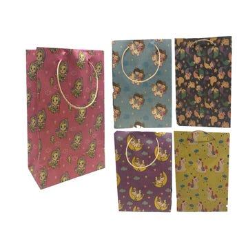 Bolsa para regalo vertical KRAFT para niña, modelos surtidos, 36 x 22 x 11 cm aprox